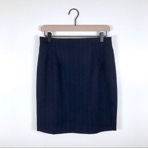 RALPH LAUREN • Navy Wool/Cashmere Skirt Size 10